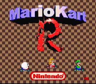 Screenshot Thumbnail / Media File 1 for Super Mario Kart (USA) [Hack by d4s v1.1] (~Mario Kart R)
